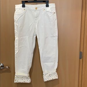 Michael Kors cropped jean studded